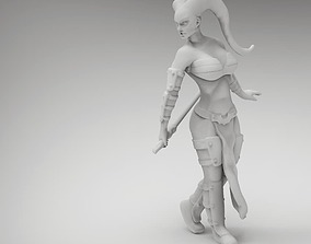 legion Tattoo Female Space Warrior 3D printable model