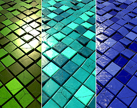 Floor and Wall Tiles Game Textures 3D asset