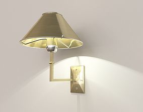 Sconce brushed with lamp 3D model