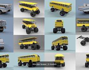 3D model Monster buses