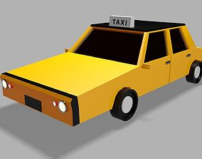 realtime Low Poly Taxi 3d Model