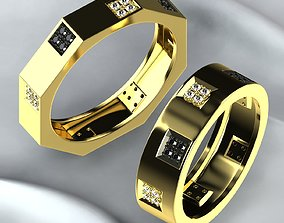 3D print model Pair of Golden Rings