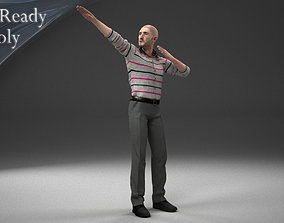 3D model rigged low-poly Male Character