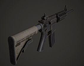3D asset M4A1 Low Poly