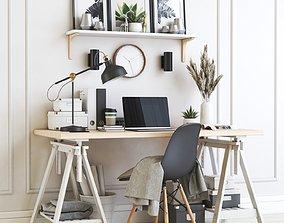 Office workplace 20 shelf 3D model