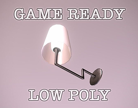 Wall Lamp low-poly game ready 3D asset