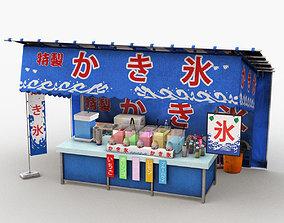 3D Japanese Street Stall 0003 Kakigori Stand