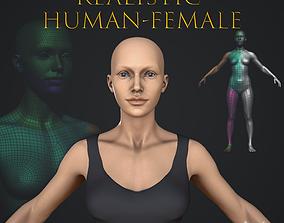 Realistic Human Female 3D model