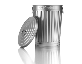3D can Garbage Can