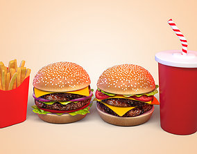 onion Burger 3D model