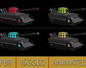 3D asset Fictional Tank Model