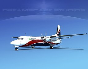 3D model Fokker 50 Arik Air