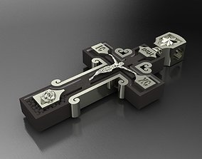 Cross with Jesus 3D printable model