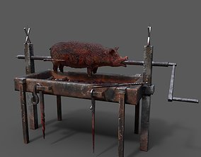 3D asset Fire Pit and Pig Roast