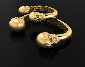 Bracelets skulls for men and women 3D print model