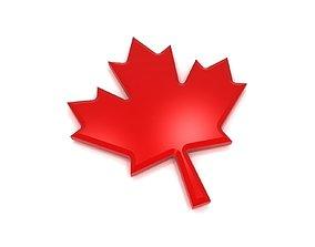 3D asset Maple Leaf