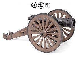 Old Cannon 3D asset game-ready