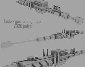 Ledo gas mining base 3D model
