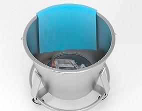 waste bin 3d model game-ready