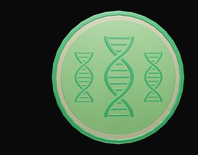 Low poly dna symbol 2 3D asset