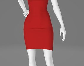 3D model Woman Clothing Pose 532