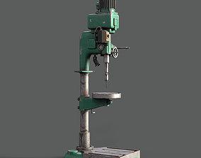Old press drill 3D asset