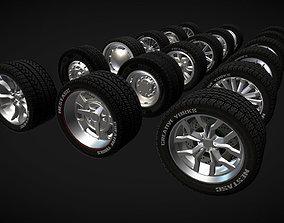 Wheels Pack 1 3D asset