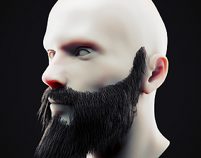 3D model Beard Low Poly 14