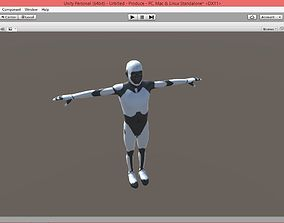 3D asset Space Man
