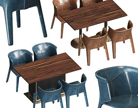 Visionnaire Anastasia Chairs and Tables 3D