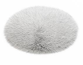 White round carpet fur 3D