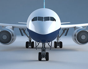 Boeing-787 3D asset game-ready