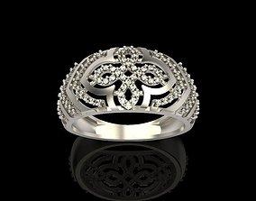 Diamond ring design cross 3D print model