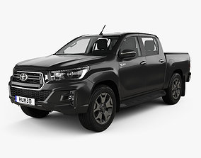 3D Toyota Hilux Double Cab L-edition with HQ interior 2019