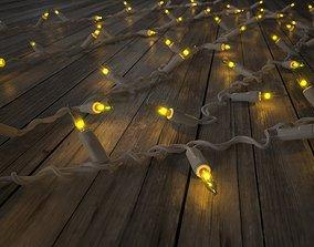 3D asset Strings Christmas Lights V2