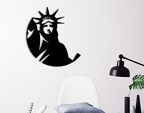 3D print model ny LIBERTY STATUE WALL DECORATION