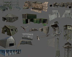 Military Base Kit 3D asset