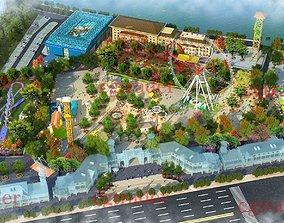 3D model Amusement Park swing