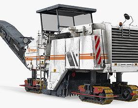 Dirty Asphalt Milling Machine Wirtgen 3D