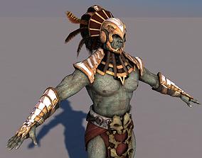 3D model rigged Aztec Mortal Kombat