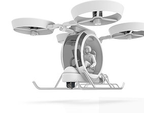 space Personal Manned Quadrocopter 3D model
