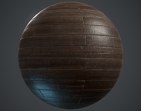 Old brickbond Parquet - PBR textures 3D model