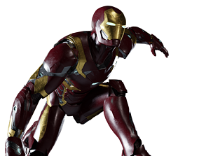 Iron Man Mark 46 Rigged 3D model