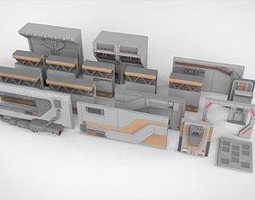 3D model sci-fi Architecture kitbash 5