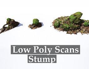3D asset Mossy Tree Stumps - Processed Scans PBR 4K