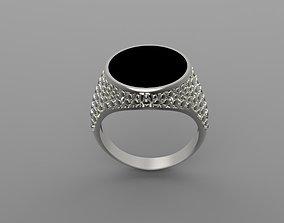 3D printable model Signet man ring