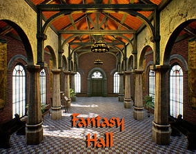 3D model Fantasy Hall for Unreal