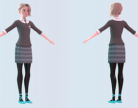 Gwen Stacy - Into the Spider-Verse School Uniform 3D model