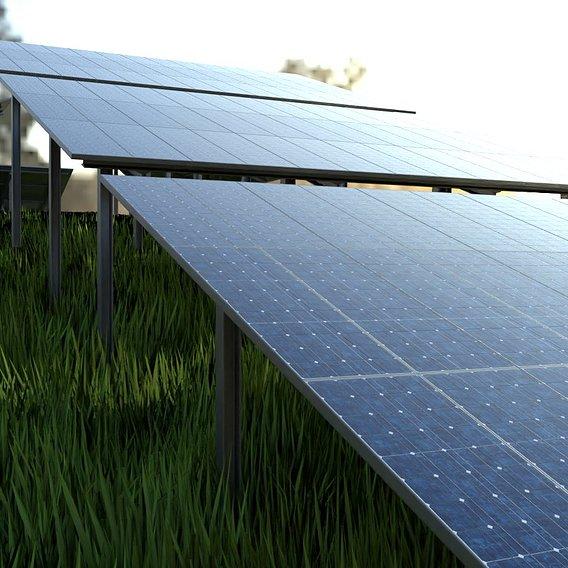 Solarmodule Version 4 - 15m (Blender-2.93 Cycles)