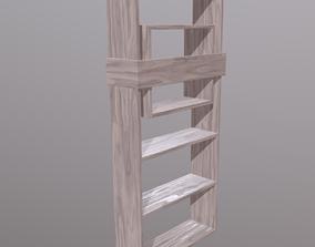 Modern Bookshelf 3D asset